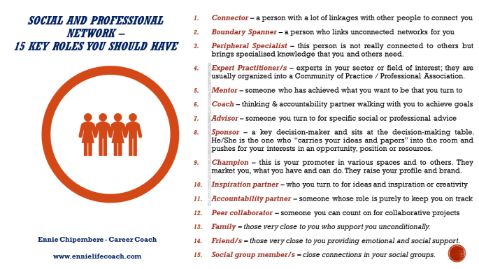 Social and Professional Network - 15 Key Roles Information Sheet